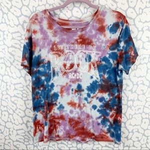 AC/DC Let There Be Rick Tye Dyed T-shirt XL